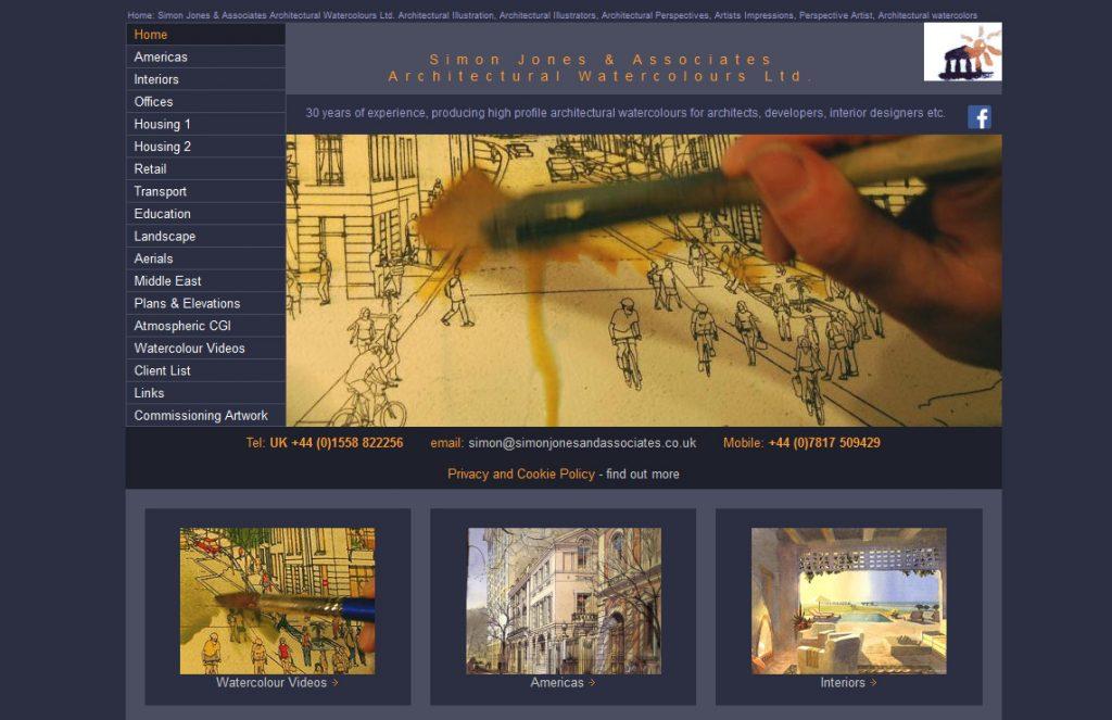Simon Jones and Associates Architectural Watercolours website